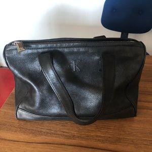 Vintage Black Leather Calvin Klein Purse